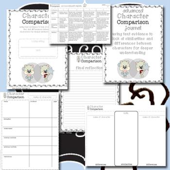 Character Comparison Journal Kit *Multi-grade*