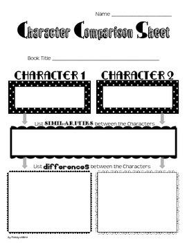 Character Comparison Sheet