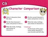Character Comparison Graphic Organizer (Common Core RL 2.3