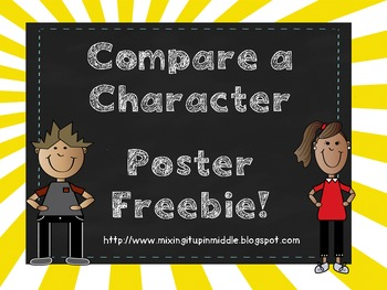 Character Comparisons Poster FREEBIE