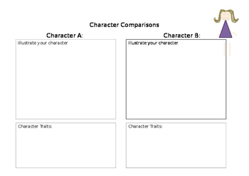Character Comparisons Sheet