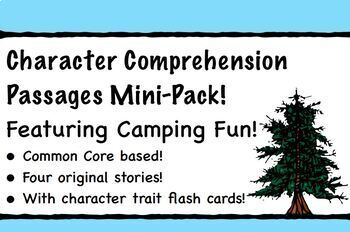 Story Elements Comprehension Passages Featuring Characters!