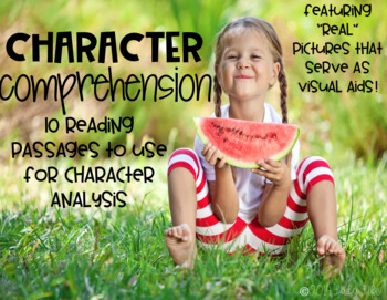 Character Comprehension-Passages for Teaching Character Traits PRINT AND DIGITAL