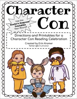 CharacterCon Dress Up as a Book Character Activity Pack for Read Across America