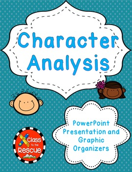 Character/Conflict Graphic Organizer PowerPoint Bundle