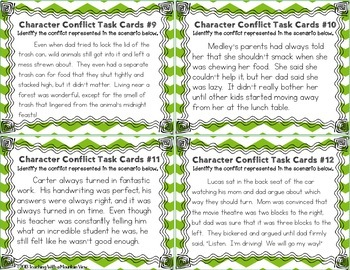 Character Conflict Task Cards