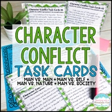 Character Conflict Task Cards   Distance Learning   Google Classroom