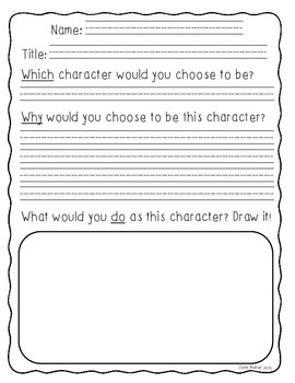 Character Connections, Compare and Contrast Organizers