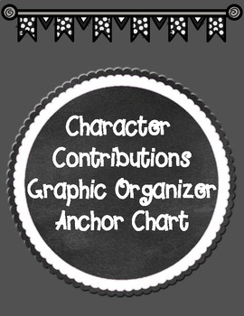 Character Contributions Graphic Organizer Anchor Chart