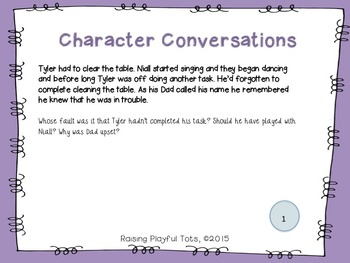 Character Conversation Cards- April