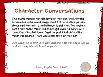 Character Conversation Cards- January