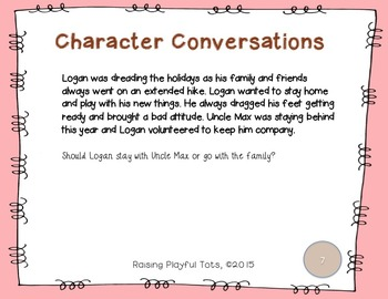 Character Conversation Cards- March