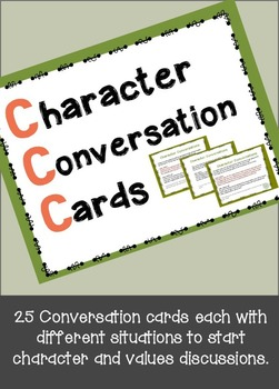 Character Conversation Cards- November
