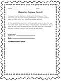 Character Costume Contest - Halloween Reading Activity