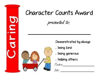 Character Counts Awards
