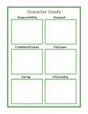 Character Counts Graphic Organizer Brainstorming, Goals, Reflection