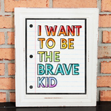 Character Poster - I WANT TO BE THE BRAVE KID - Growth Min