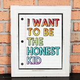 Character Poster - I WANT TO BE THE HONEST KID - Growth Mi