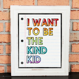 Character Poster - I WANT TO BE THE KIND KID - Growth Mind