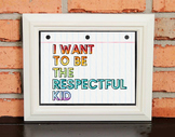 Character Poster - I WANT TO BE THE RESPECTFUL KID - Growt