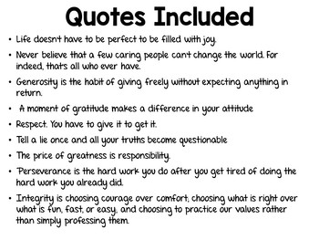 Character Counts Motivational Classroom posters