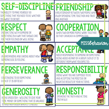 Character Counts Word Wall | SEL Vocabulary