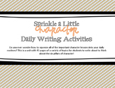 Character Counts Writing Prompts