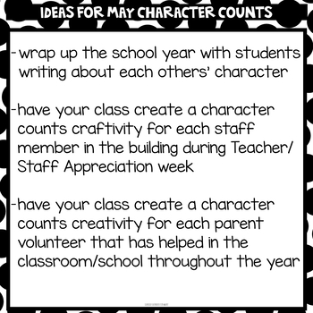 Character Counts in May - Craftivity Scoot