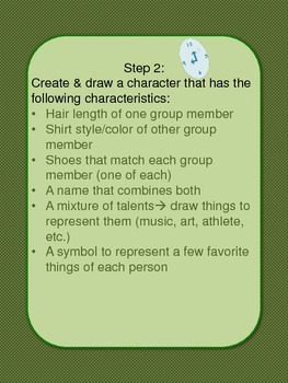 Character Creation/Creative Writing Brain Break--Freebie