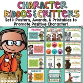 Promoting Good Character Posters, Awards, & Brag Badge Pack Set 1 Brights
