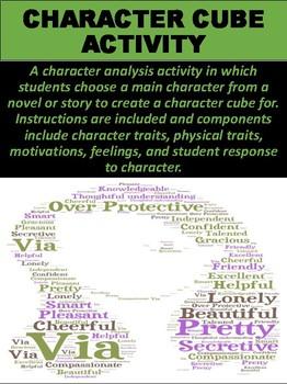 Character Cube Activity