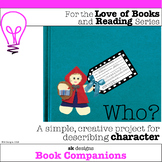 Character Description, Book Reading, Report, Activity Craft for Bulletin Board