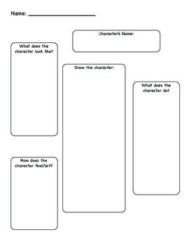 Character Description Graphic Organizer