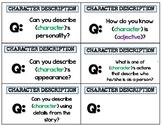 Character Description Q&A Cards