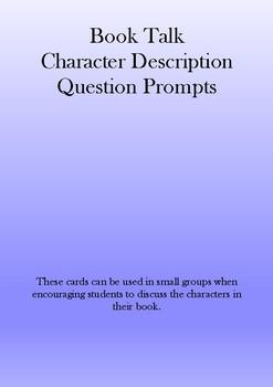 Character Description Question Prompt Cards