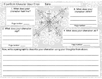 Character Description Snowflake for Reading or Writing
