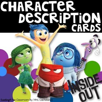 Character Description Trait Cards-Inside Out