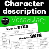 Character Description Vocabulary