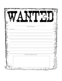 Character Description--Wanted Poster
