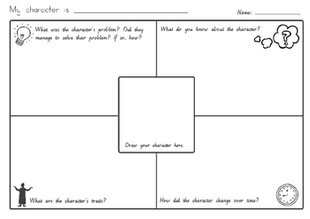 Character Description Writing Sheet