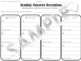 Character Descriptions Graphic Organizer