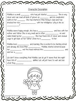 Character Descriptions Lesson  – Matilda