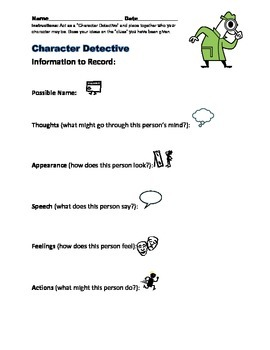 Character Detectives