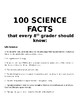 100 Science Facts Every 8th Grader Should Know