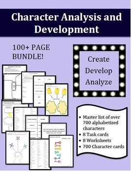 Character Analysis and Development - BUNDLE!