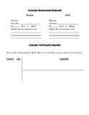 Character Development Bookmark and Trait Analysis Organizer