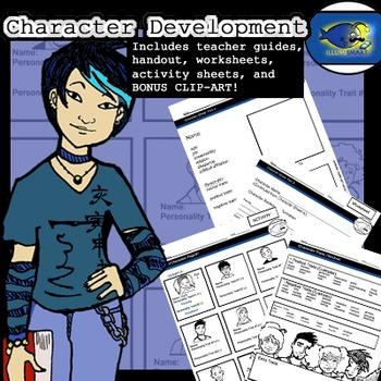 Character Development Bundle: 2 Lesson Plans in One! Bonus Clip-Art!