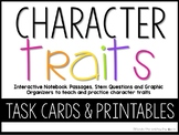 Character Traits: Task Cards Graphic Organizers