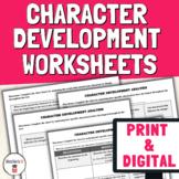 Character Development Worksheets & Graphic Organizers | Di