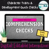 Character Development Comprehension Checks: Grades 5-6 R.A.C.E.